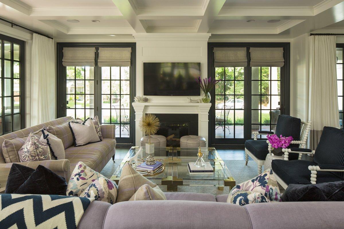 2 Story Stone Fireplace Ideas